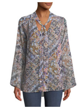 Taylor Tie Front Tunic by Show Me Your Mumu