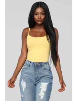 Sheya Cami   Yellow by Fashion Nova