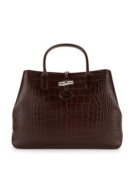 Roseau Leather Tote Bag by Longchamp