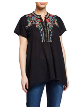 Mikones Hinga Embroidered Tunic by Johnny Was
