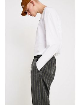 Uo Khaki Washed Striped Pyjama Trousers by Urban Outfitters