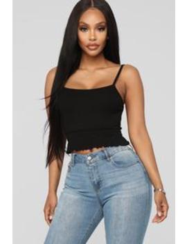 Get What I Want Top   Black by Fashion Nova