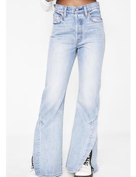 Ribcage Split Flare Jeans by Levis