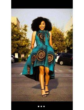 Fola Hi Low Dress, Ankara Dress, African Clothing, Women Clothing, Women Dress, African Dress, Maxi Dress by Etsy