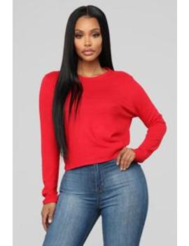 In The Meantime Top   Red by Fashion Nova