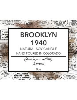 Brooklyn, 1940 // 8 Oz Soy Candle   Book Inspired   Marvel Inspired Candle   Bookish Gifts   New York City   Stucky   Captain America by Etsy