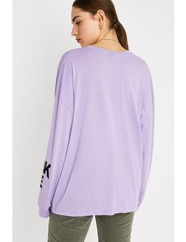 Uo Illusions Mauve Long Sleeve Skate T Shirt by Urban Outfitters