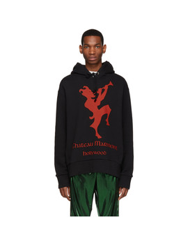 Black & Red Chateau Marmont Hoodie by Gucci