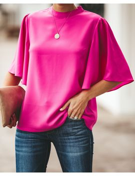 Flutter By Blouse   Magenta by Vici