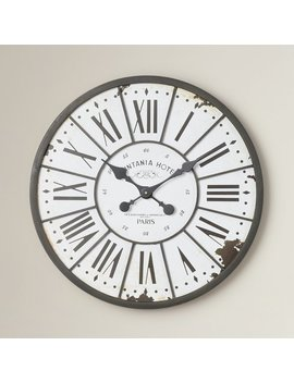 "One Allium Way Hartshorn Oversized 24"" Wall Clock & Reviews by One Allium Way"