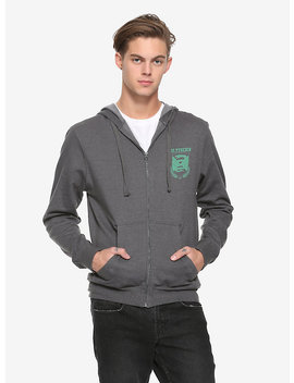 Harry Potter Slytherin Quidditch Team Zipper Hoodie by Hot Topic