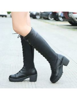 Bolitin   Low Heel Platform Tall Boots by Bolitin