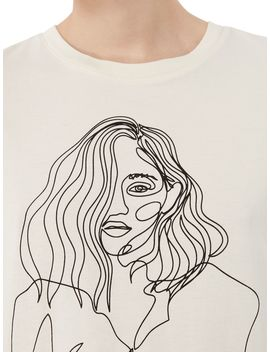 Sketch Detail T Shirt by Vero Moda