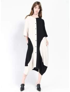 Henrik Vibskov Circle Dress   Black/Ivory by Garmentory