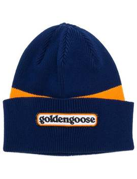 Logo Colour Block Beanie Hat by Golden Goose Deluxe Brand