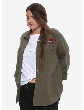 Jurassic Park Destructed Girls Staff Jacket Plus Size by Hot Topic