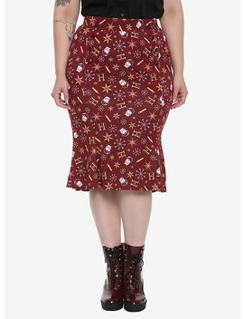 Harry Potter Retro Holiday Skirt Plus Size by Hot Topic