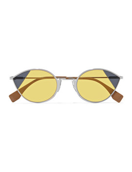 Cat Eye Silver Tone Sunglasses by Fendi