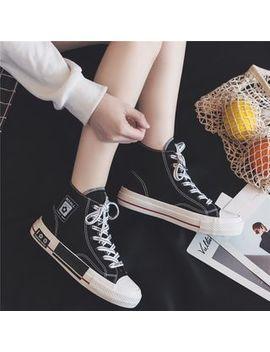 Erinnyes   Applique High Top Canvas Sneakers by Erinnyes