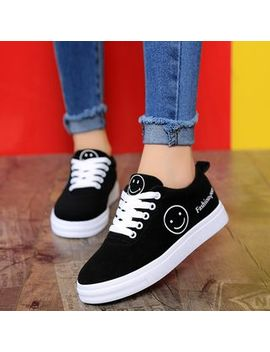 Yuche   Smiley Canvas Sneakers by Yuche