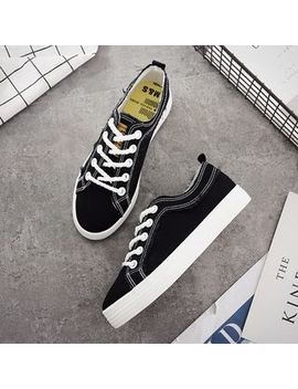 Solejoy   Fray Trim Canvas Lace Up Sneakers by Solejoy