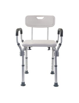 Essential Medical Supply Adjustable Molded Shower Chair With Arms & Back by Essential Medical Supply