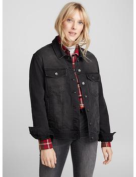 Stretch Black Denim Jacket by Icône