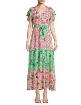 Jaya Contrast Print Maxi Dress by Banjanan