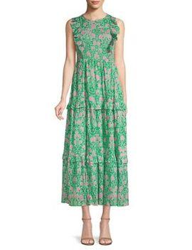 Iris Smocked Maxi Dress by Banjanan