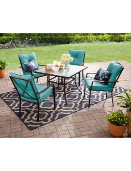 Mainstays Forest Hills 5 Piece Dining Set, Teal by Mainstays