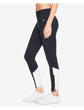 Double Dry™ Mesh Inset Zip Ankle Leggings by Champion
