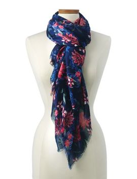 Women's Deep Sea Multi Floral Scarf by Lands' End