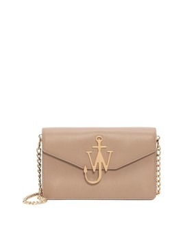 Jw Logo Leather Purse With Chain by Jw Anderson