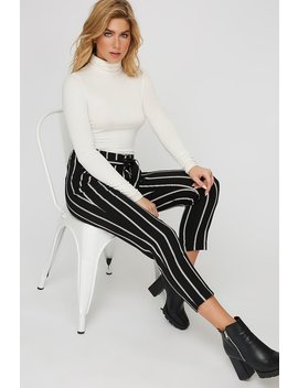 High Rise Self Tie Belted Cropped Pant by Urban Planet