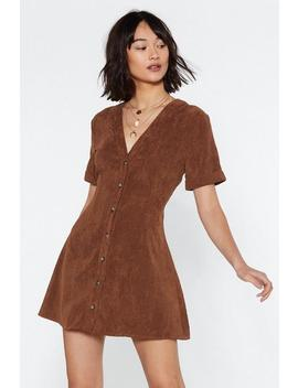 Button Cloud Nine Corduroy Dress by Nasty Gal