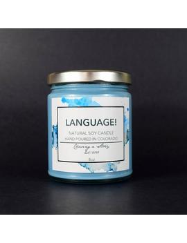 Language! // 8 Oz Soy Candle   Bookish Candles   Steve Rogers   Captain America   Avengers   Gift   Handmade   Movie Candle by Etsy