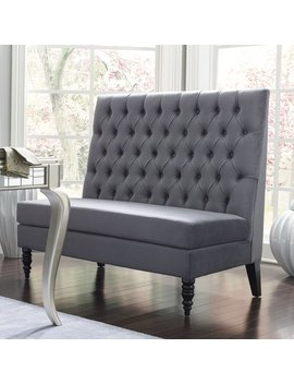 "Willa Arlo Interiors Greenford 49.5"" Tufted Settee Bench & Reviews by Willa Arlo Interiors"