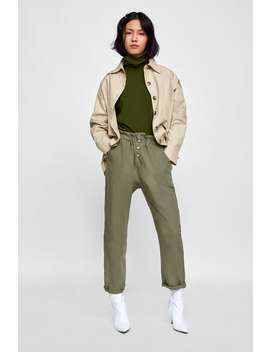 Paperbag Waist Pant  Bottomsstarting From 50 Percents Off Woman Sale by Zara