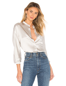 Single Pocket Blouse by Vince