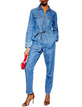 Denim Utility Boilersuit by Topshop