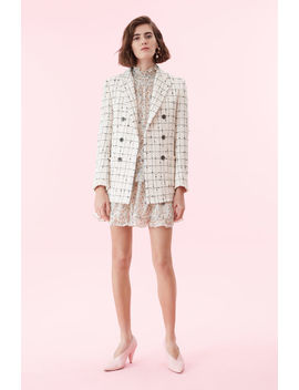 Plaid Tweed Blazer by Rebecca Taylor