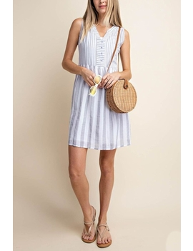 Stripe Grey Dress by Plain Jane Gifts, Alabama
