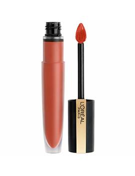 L'oréal Paris Makeup Rouge Signature, Lasting Matte Liquid Lipstick, Ultra Lightweight, Ultra Comfortable, High Pigment Color, Precise Applicator Shapes & Lines Lips, I Achieve, 0.23 Oz. by L'oreal Paris