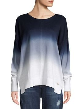 Classic Cotton & Linen Long Sleeve Top by Donna Karan