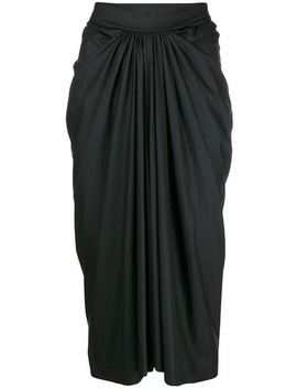 Draped Midi Skirt by Rick Owens Lilies