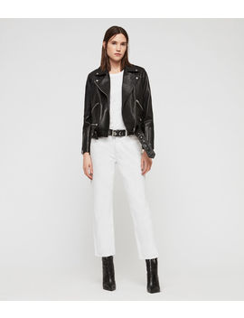 Estae Leather Biker Jacket by Allsaints