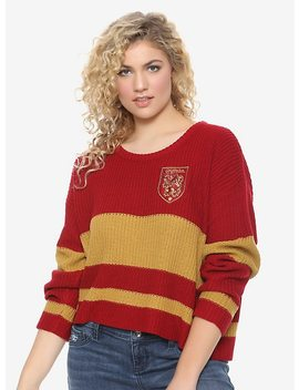 Harry Potter Gryffindor Girls Quidditch Sweater Plus Size by Hot Topic