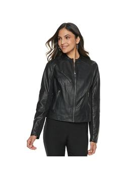 Women's Apt. 9® Faux Leather Moto Jacket by Apt. 9