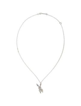 Silver Inflatable Bunny Necklace by Ambush