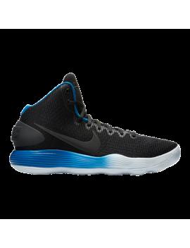 Nike Men's Hyperdunk 2017 Basketball Shoes   Black/Blue by Sport Chek